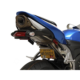 Competition Werkes Fender Eliminator Kit - Pivot License Plate Mount - 2012 Honda CBR600RR Competition Werkes Rider Footpegs
