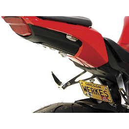 Competition Werkes Fender Eliminator Kit - Pivot License Plate Mount - 2008 Honda CBR1000RR Lockhart Phillips Afterburner LED Blinker Tail Light