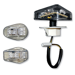 Competition Werkes Light Werkes LED Marker Light - Clear - 2007 Honda CBR600RR Competition Werkes Fender Eliminator Kit - Pivot License Plate Mount