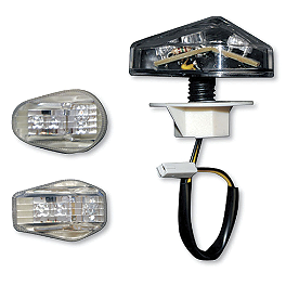 Competition Werkes Light Werkes LED Marker Light - Clear - 2001 Kawasaki ZX600 - Ninja ZX-6R Competition Werkes Rider Footpegs