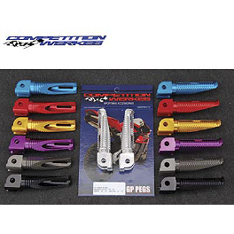 Competition Werkes Passenger Footpegs - 2006 Yamaha YZFR1LE - R1 Limited Edition Competition Werkes Rider Footpegs