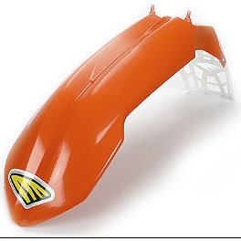 Cycra Cycralite Front Fender - Orange - Cycra Stadium Number Plate - Orange
