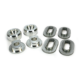 Cycra Composite Alloy Grommet Set - Cycra Plastic Kit - White