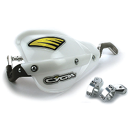 "Cycra Pro Bend - Center Reach 7/8"" Standard Bar Mount Kit - Cycra Powerflow Rear Fender - White"