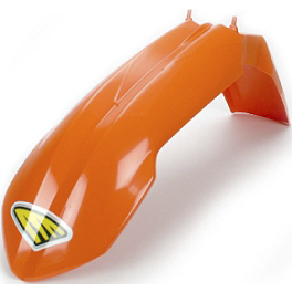 Cycra Performance Front Fender - Orange - One Industries Techno-Grip Seat Cover - Black/Orange