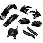 Cycra Plastic Kit - Black - REAR--FEATURED Dirt Bike Dirt Bike Parts