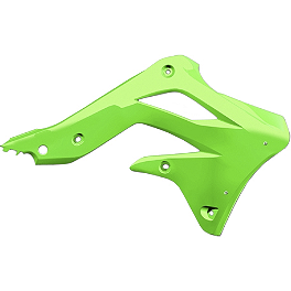Cycra Powerflow Radiator Shrouds - Green - Cycra Fork Guards - Green