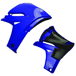 Cycra Powerflow Radiator Shrouds - Blue - Cycra Powerflow Rear Fender - Blue
