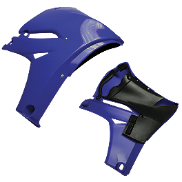 Cycra Powerflow Radiator Shrouds 10+ YZ450F - Blue - Cycra Powerflow Radiator Shrouds 10+ YZ450F - Black