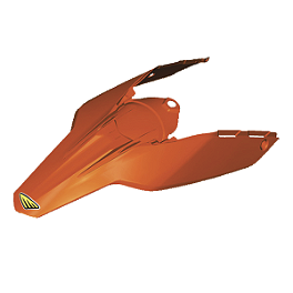 Cycra Powerflow Rear Fender - Orange - 2010 KTM 450XCW 2013 Factory Effex Number Plate Backgrounds KTM - Black