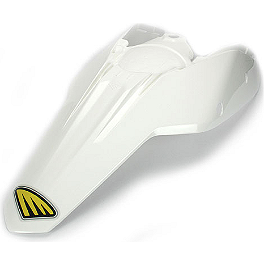Cycra Powerflow Rear Fender - White - 2011 KTM 250XCFW Cycra Plastic Kit - OEM KTM