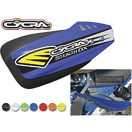 Cycra Stealth DX Handguards - Cycra Stadium Number Plate - Works Clear