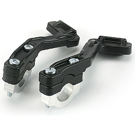 Cycra Stealth Primal Brackets With Clamp Hardware - Cycra Skull Vented Number Plate - Black