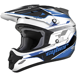 Cyber UX-25 Graphic Helmet - 2013 One Industries Carbon Combo - Yamaha