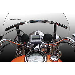 "Cycle Sounds Cruiser 2.5"" Sound System - Cycle Sounds iPOD Motorcycle Holder - iPOD Touch Generations 1-3"