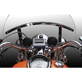 "Cycle Sounds Cruiser 3"" Premium Sound System - Cycle Sounds iPOD Motorcycle Holder - Generations 1-4"