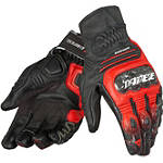 Dainese Carbon Cover S-ST Gloves - SIDI Shorty Motorcycle Gloves