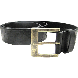 Dainese Evo Leather Belt - Dainese Logo Evo Belt