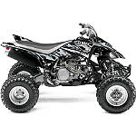 GYTR One Industries Graphic Kit - Silver Flame - Yamaha YFZ450 ATV Graphics and Decals