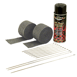 DEI Exhaust Wrap Kit With Spray - DEI Pipe Wrap And Locking Ties Kit