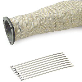 "DEI Stainless Steel Locking Ties 8"" - 8 Pack - Helix Exhaust Wrap - 50' X 1"