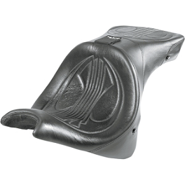 Danny Gray Airhawk Weekday 2-Up XL Seat With Backrest Receptacle - Plain - Danny Gray Airhawk Passenger Bigseat - Plain