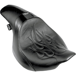 Danny Gray Short Hop 2-Up XL Seat With Backrest Receptacle - Flame - Danny Gray Short Hop 2-Up XL Seat With Backrest Receptacle - Studded