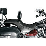 Danny Gray Short Hop 2-Up XL Seat With Backrest Receptacle - Studded - Danny Gray Cruiser Products