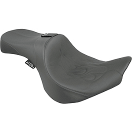 Danny Gray Weekday 2-Up XL Seat With Backrest Receptacle - Flame - Danny Gray Weekday 2-Up XL Seat - Studded