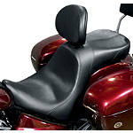 Danny Gray Weekday 2-Up XL Seat With Backrest Receptacle - Plain - Cruiser Seats and Sissy Bars