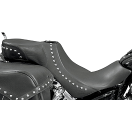 Danny Gray Weekday 2-Up XL Seat With Backrest Receptacle - Studded - Bassani Xhaust 4
