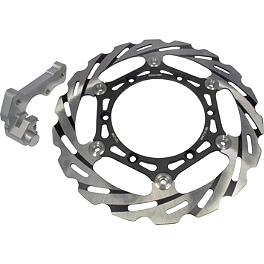 Driven Blade Oversize Floating Front Brake Rotor - 2011 Yamaha YZ250 Braking W-OPEN Oversized Brake Rotor Kit - Front