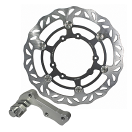 Driven Oversize Floating Front Brake Rotor - 2004 Honda CR125 Braking W-FLO Oversized Brake Rotor - Front