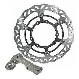 Driven Oversize Floating Front Brake Rotor - 2011 Yamaha WR250F Braking W-OPEN Oversized Brake Rotor Kit - Front