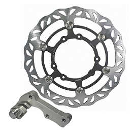 Driven Oversize Floating Front Brake Rotor - 2011 Yamaha YZ250 Braking W-OPEN Oversized Brake Rotor Kit - Front