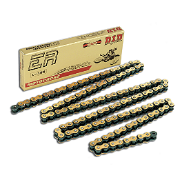 DID 420 NZ3 Gold Chain - 120 Links - DID Master Link 420NZ3 - Clip Style Gold