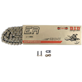 DID 428 NZ Gold Chain - 136 Links - BikeMaster 428 Heavy-Duty Master Link - Clip Style
