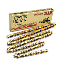 DID 520 ERT2 Gold Chain - 120 Links - Leo Vince X3 Ti-Tech Motocross Full-System - Stainless/Titanium With Carbon Fiber End Cap