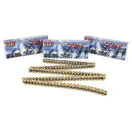 DID 520 ZVMX Series X-Ring Gold Chain - 120 Links - DID 525 VM2 X-Ring Gold Master Link - Rivet Style