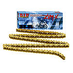 DID 525 ZVMX X-Ring Gold Chain - 120 Links - 525 Cruiser Belts and Chains
