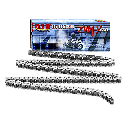 DID 530 ZVMX X-Ring Chrome Chain - 120 Links - DID 530 ZVM2 X-Ring Rivet Link - Chrome