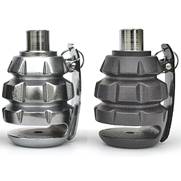 Deemeed Grenade Motorcycle Disc Lock - Show Chrome Tank Pad Keychain