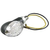 DMP Turn Signal Mid Oval Black/Clear