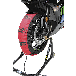 DMP Slingshot Tire Warmers - 110-120 / 170-180 - Akrapovic Evolution Full System Exhaust - Titanium Single