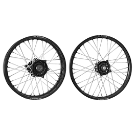DNA Specialty Front & Rear Wheel Combo - 2004 KTM 200EXC Warp 9 Complete Front Wheel 1.60X21 - Silver/Black