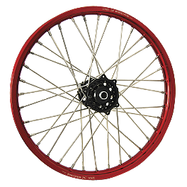 DNA Specialty Front Wheel 1.60X21 - Black/Red - DNA Specialty Rear Wheel 1.85X19 - Black/Red