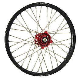 DNA Specialty Front Wheel 1.60X21 - Red/Black - DNA Specialty Rear Wheel 1.85X19 - Red/Black