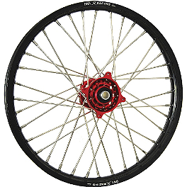 DNA Specialty Front Wheel 1.40x19 - Red/Black - DNA Specialty Rear Wheel 1.85x16 - Red/Black