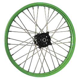 DNA Specialty Front Wheel 1.60X21 - Black/Green - 2007 Kawasaki KX450F DNA Specialty Rear Wheel 2.15X19 - Black/Black