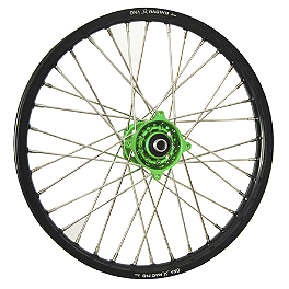DNA Specialty Front Wheel 1.60X21 - Green/Black - 2007 Kawasaki KX250 DNA Specialty Rear Wheel 2.15X19 - Black/Green